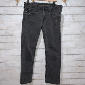 True Religion Black Flap Pocket Denim